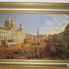 Varios objetos de Arte: CUADRO PLAZA NAVONA ROMA 1699 GASPAR VAN WITTEL. Lote 196216630