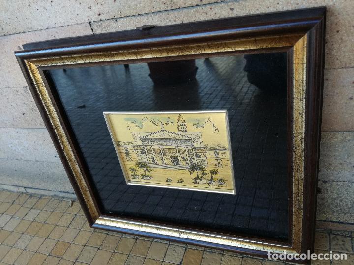 Varios objetos de Arte: MINIATURA PINTADA A MANO SOBRE LAMINA DE ORO 985 DEL PRESTIGIOSO ARTISTA ITALIANO MONTANARI - Foto 5 - 196313242