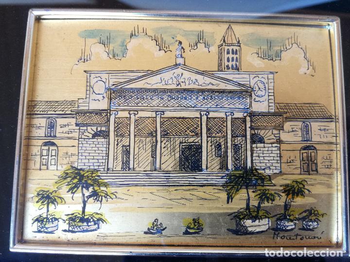 MINIATURA PINTADA A MANO SOBRE LAMINA DE ORO 985 DEL PRESTIGIOSO ARTISTA ITALIANO MONTANARI (Arte - Varios Objetos de Arte)