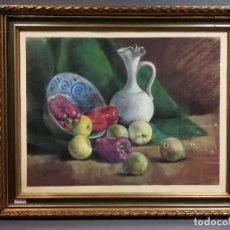 Varios objetos de Arte: CUADRO TECNICA PASTEL BODEGON FRUTAS FIRMADO R ARELLANA. Lote 196592413
