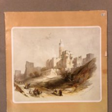 Varios objetos de Arte: THE HOLY LAND, 5 ART REPRODUCTIONS OF ORIGINAL LITHOGRAPHS BY DAVID ROBERTS (1839).. Lote 196904400