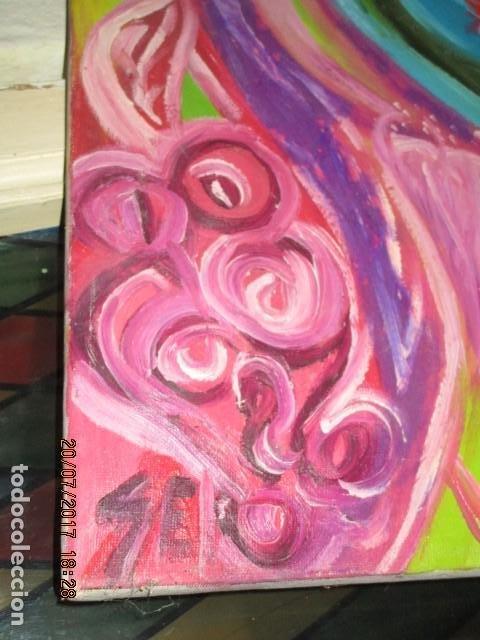 Varios objetos de Arte: abxTracto SURREALISMO ANTIGUA PINTURA OLEO EN LIENZO PROCEDENCIA DE ALICANTE firmado - Foto 2 - 196982837