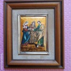Varios objetos de Arte: PRECIOSO ESMALTE DE LA BODA DE MARIA Y JOSÉ.. Lote 197049575