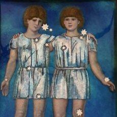 Varios objetos de Arte: JOSEP BRUNET - GEMELOS - ESMALTE AL FUEGO - PRECIOSO.. Lote 197529367