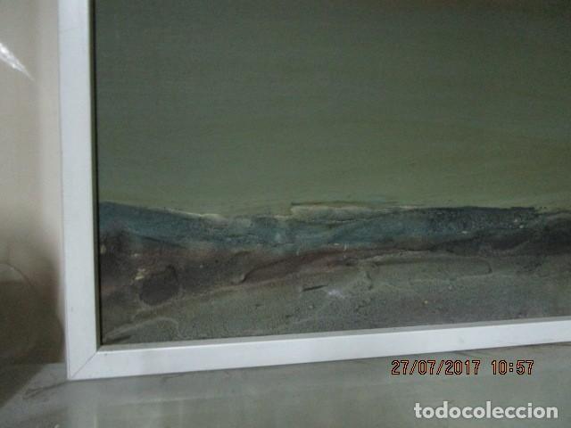 Varios objetos de Arte: PINTURA ANTIGUA CUADRO OLEO VANGUARDISTA FIRMA ILEGIBLE EN EL 75 A ESTUDIAR - Foto 3 - 61872680