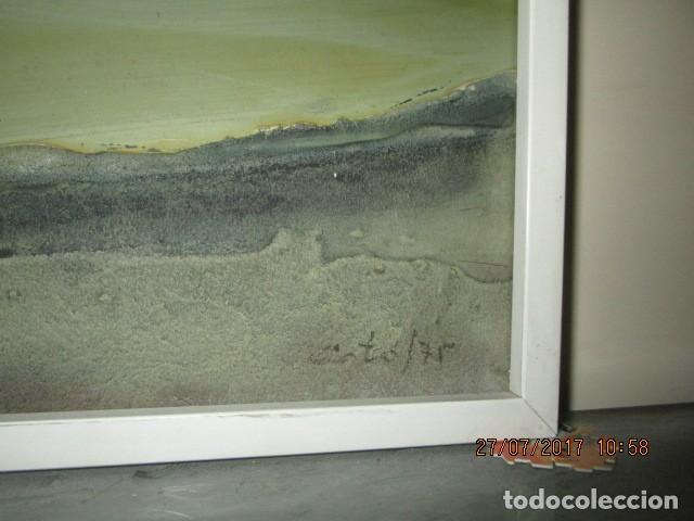 Varios objetos de Arte: PINTURA ANTIGUA CUADRO OLEO VANGUARDISTA FIRMA ILEGIBLE EN EL 75 A ESTUDIAR - Foto 4 - 61872680
