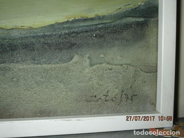 Varios objetos de Arte: PINTURA ANTIGUA CUADRO OLEO VANGUARDISTA FIRMA ILEGIBLE EN EL 75 A ESTUDIAR - Foto 2 - 61872680