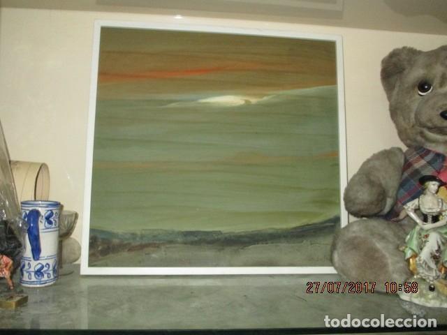 PINTURA ANTIGUA CUADRO OLEO VANGUARDISTA FIRMA ILEGIBLE EN EL 75 A ESTUDIAR (Arte - Varios Objetos de Arte)