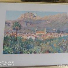 Varios objetos de Arte: CUADRO GRABADO MALLORCA SOLLER CON EL PUIG MAJOR DECORACION. Lote 197803530