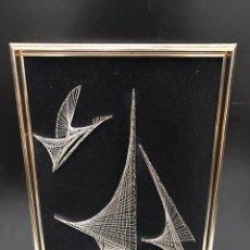 Varios objetos de Arte: ANTIGUO CUADRO DE HILO. Lote 198155153