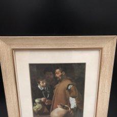 Varios objetos de Arte: CUADRO LAMINA ANTIGUO. Lote 198156081