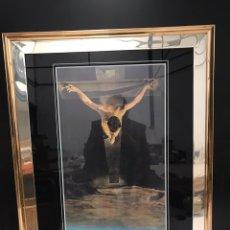 Varios objetos de Arte: CUADRO LAMINA JESUS EN LA CRUZ. Lote 198156596
