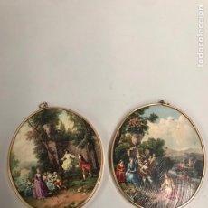 Varios objetos de Arte: LOTE DE CUADROS DE ÉPOCA. Lote 198156897