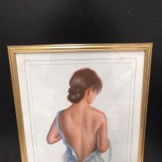 Varios objetos de Arte: CUADRO LAMINA MUJER. Lote 198215653