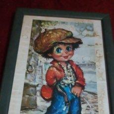 Varios objetos de Arte: CUADRO DE NIÑO. Lote 198883658