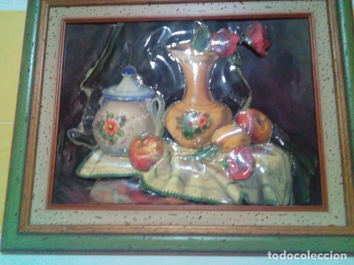 Varios objetos de Arte: BONITO CUADRO CON RELIEVE ESMALTADO - Foto 4 - 199304505
