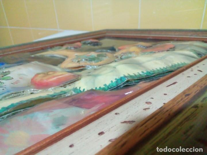 Varios objetos de Arte: BONITO CUADRO CON RELIEVE ESMALTADO - Foto 6 - 199304505