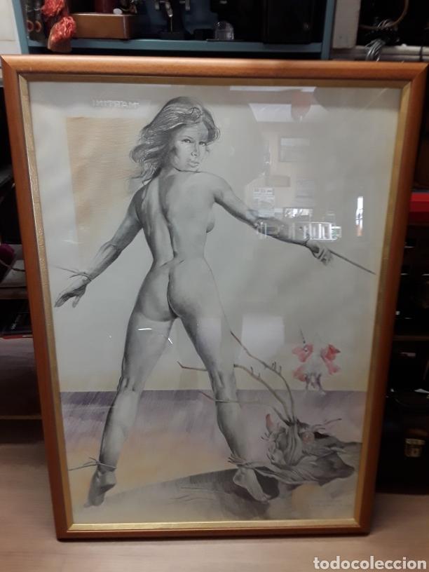 CUADRO DE NATALIO BAYO,(LA DONCELLA,EL DRAGÓN Y SAN JORGE)AÑO1983 (Arte - Varios Objetos de Arte)