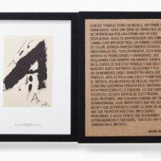 Varios objetos de Arte: SÉRIE NEGRA. ANTONI TÁPIES. Lote 199414200