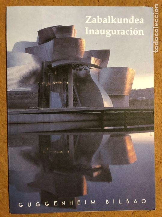 INVITACIÓN INAGURACIÓN MUSEO GUGGENHEIM BILBAO (1997), CON PROGRAMA DE ACTOS. (Arte - Varios Objetos de Arte)