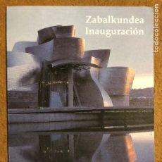 Varios objetos de Arte: INVITACIÓN INAGURACIÓN MUSEO GUGGENHEIM BILBAO (1997), CON PROGRAMA DE ACTOS.. Lote 199427823