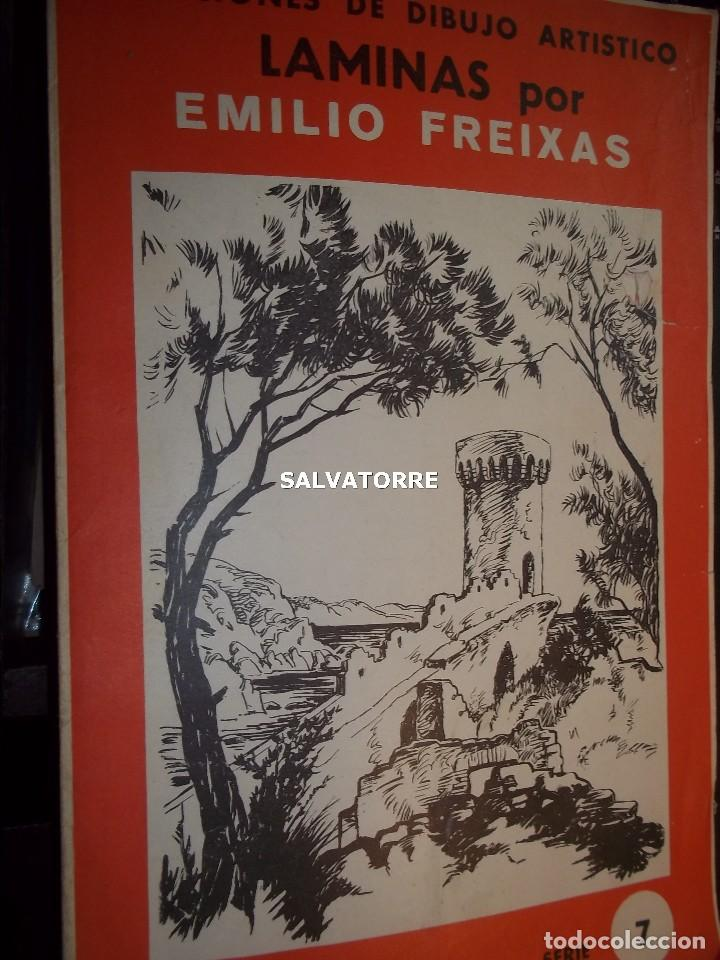 EMILIO FREIXAS.LECCIONES DE DIBUJO ARTISTICO.SERIE 7.MESEGUER EDITOR. BARCELONA (Arte - Varios Objetos de Arte)