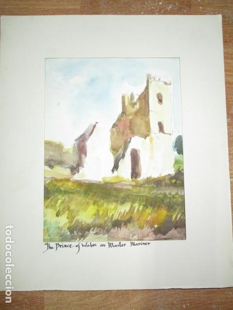 Varios objetos de Arte: acuarela original castillo o fortaleza antiguo años 30 - Foto 6 - 199719015