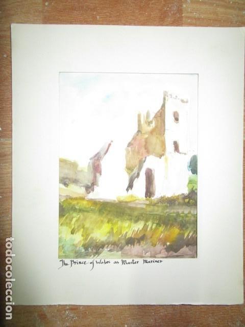 Varios objetos de Arte: acuarela original castillo o fortaleza antiguo años 30 - Foto 3 - 199719015