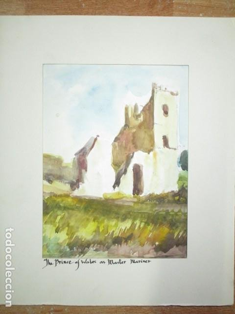 Varios objetos de Arte: acuarela original castillo o fortaleza antiguo años 30 - Foto 4 - 199719015