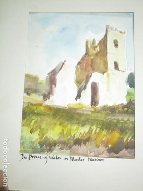 Varios objetos de Arte: acuarela original castillo o fortaleza antiguo años 30 - Foto 5 - 199719015