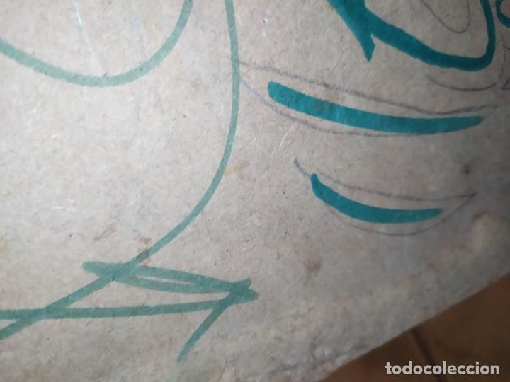 Varios objetos de Arte: PIROGRABADO PIROGRAFÍA PIN UP POP ART MADERA CONGLOMERADA DIBUJOS CHICAS DOS CARAS GRAFITII - Foto 13 - 199783355