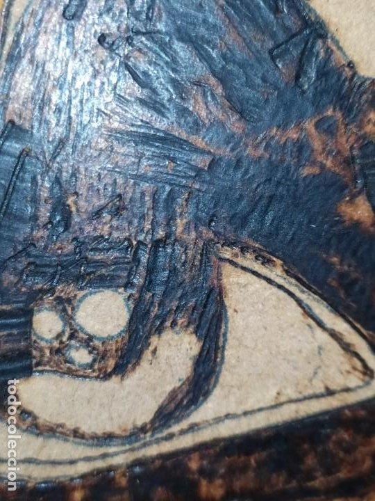 Varios objetos de Arte: PIROGRABADO PIROGRAFÍA PIN UP POP ART MADERA CONGLOMERADA DIBUJOS CHICAS DOS CARAS GRAFITII - Foto 17 - 199783355