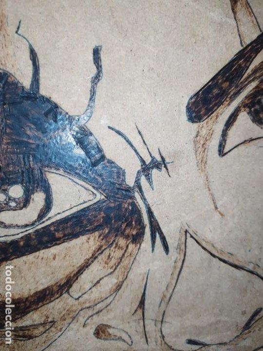 Varios objetos de Arte: PIROGRABADO PIROGRAFÍA PIN UP POP ART MADERA CONGLOMERADA DIBUJOS CHICAS DOS CARAS GRAFITII - Foto 18 - 199783355