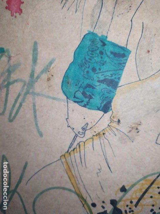 Varios objetos de Arte: PIROGRABADO PIROGRAFÍA PIN UP POP ART MADERA CONGLOMERADA DIBUJOS CHICAS DOS CARAS GRAFITII - Foto 25 - 199783355