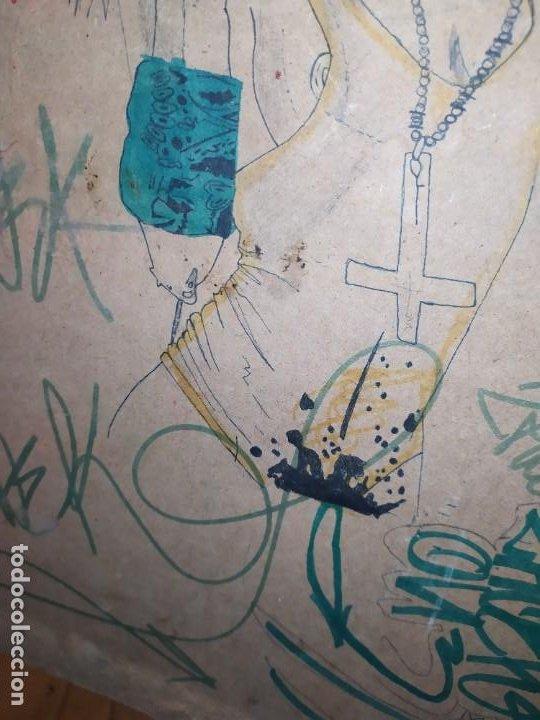 Varios objetos de Arte: PIROGRABADO PIROGRAFÍA PIN UP POP ART MADERA CONGLOMERADA DIBUJOS CHICAS DOS CARAS GRAFITII - Foto 26 - 199783355