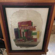Varios objetos de Arte: BONITO CUADRO ECHO SOBRE PIEL DE VACA, MOTIVOS ARGENTINOS. Lote 199800750