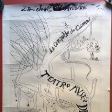 Varios objetos de Arte: CARTEL - AFFICHE - DALI - LA CONQUETE DU MONDE - JEAN LAVIGNE - 1974 TEATRO MUSEO DALI FIGUERAS RARO. Lote 199980371