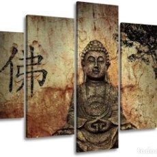 Varios objetos de Arte: CUADRO BUDA DE 5 PIEZAS. Lote 200186572