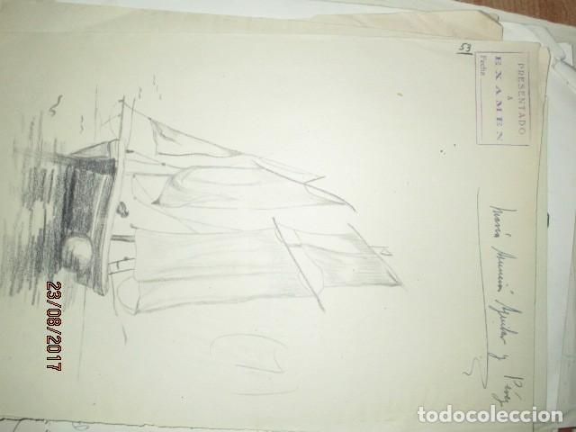 Varios objetos de Arte: ANTIGUA CARPETA CON 65 DIBUJOS ANTIGUA ACADEMIA O TALLER DE ARTE escuela trabajo de ALICANTE - Foto 33 - 176645809