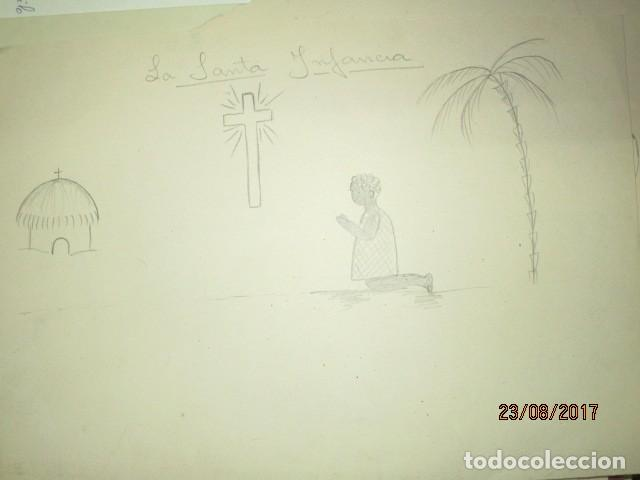 Varios objetos de Arte: ANTIGUA CARPETA CON 65 DIBUJOS ANTIGUA ACADEMIA O TALLER DE ARTE escuela trabajo de ALICANTE - Foto 34 - 176645809