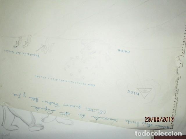 Varios objetos de Arte: ANTIGUA CARPETA CON 65 DIBUJOS ANTIGUA ACADEMIA O TALLER DE ARTE escuela trabajo de ALICANTE - Foto 39 - 176645809