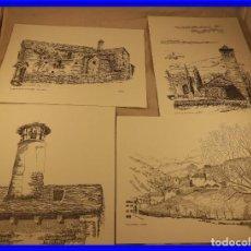 Varios objetos de Arte: DIBUJOS DE JULIO GAVIN MOYA DE CASAS DEL PIRINEO ARAGONES. Lote 200895255