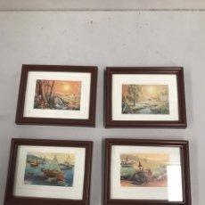 Varios objetos de Arte: LOTE DE CUADROS LÁMINAS. Lote 201124075