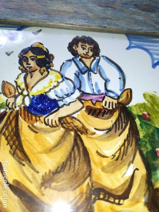 Varios objetos de Arte: AZULEJO ESCENA VALENCIANA VALENCIANO FIRMADO ILEGIBLE ENMARCADO PRECIOSO MADE IN SPAIN ILEGIBLE - Foto 3 - 201234511