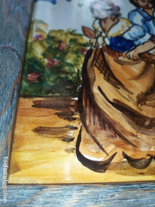Varios objetos de Arte: AZULEJO ESCENA VALENCIANA VALENCIANO FIRMADO ILEGIBLE ENMARCADO PRECIOSO MADE IN SPAIN ILEGIBLE - Foto 5 - 201234511