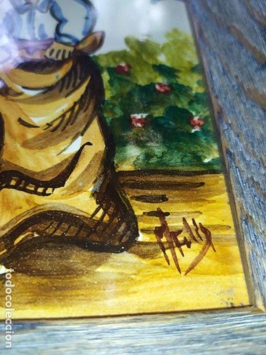 Varios objetos de Arte: AZULEJO ESCENA VALENCIANA VALENCIANO FIRMADO ILEGIBLE ENMARCADO PRECIOSO MADE IN SPAIN ILEGIBLE - Foto 6 - 201234511