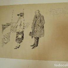 Varios objetos de Arte: DIBUJO ORIGINAL TEODORO GASCON BARQUERO ?? HISTORIAS BATURRAS - HOJAS SELECTAS. Lote 201860810