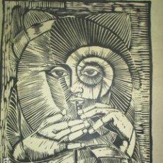 Varios objetos de Arte: ANTIGUA OBRA PINTURA MARZO 1992 MADRID FIRMADO COLOMBIA TITULO MANUSCRITO EL SALVADOR. Lote 202105301
