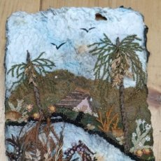 Varios objetos de Arte: PAISAJES EN PASTA DE PAPEL. Lote 202321983