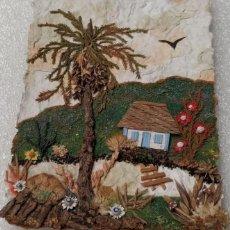 Varios objetos de Arte: PAISAJES EN PASTA DE PAPEL. Lote 202322308